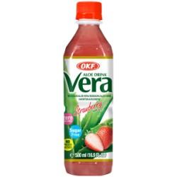Aloe Vera, Φράουλα, χωρίς ζάχαρη - 500 ml